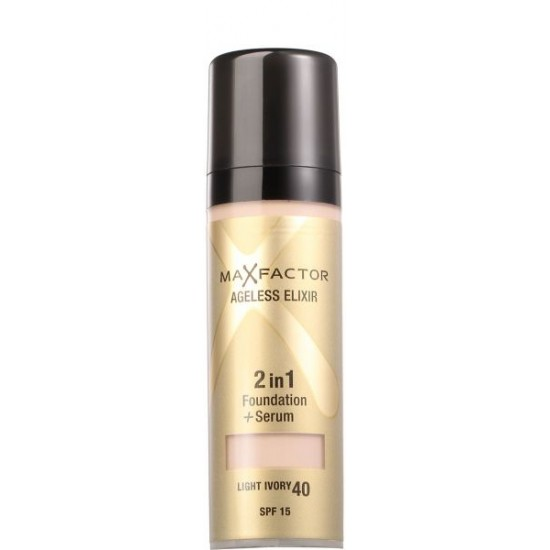 Max Factor Ageless Elixir 2 in 1 Foundation and Serum Light Ivory 40